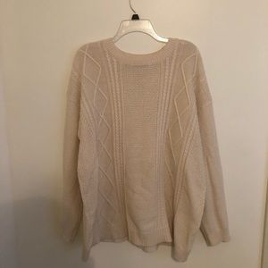 UO BDG cream chunky knit sweater size large